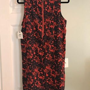 Caslon Dresses - Caslon Navy blue and coral floral dress
